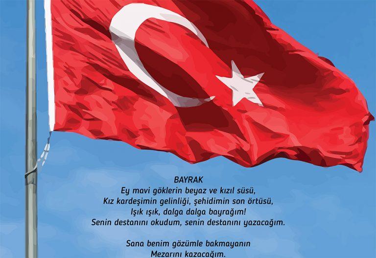 Bayrak Kapi Posteri Ali Ogretmen Materyal Tasarim