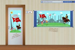 23 Nisan Hazır Pano Tasarımları & Kapı Posterleri