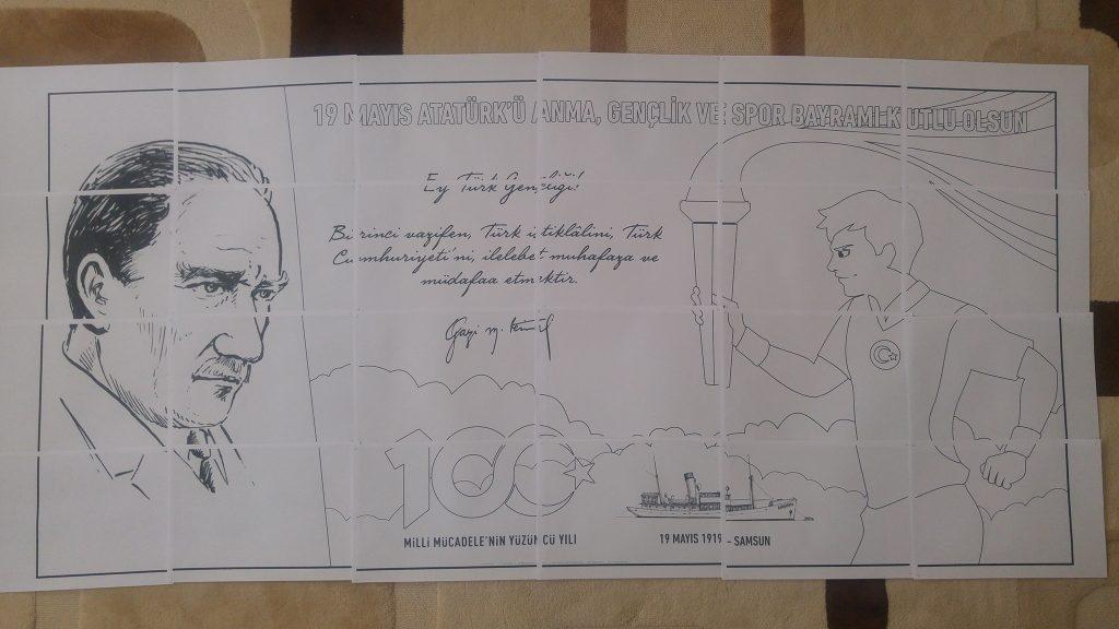 19 Mayis Poster Boyama Ali Ogretmen Materyal Tasarim