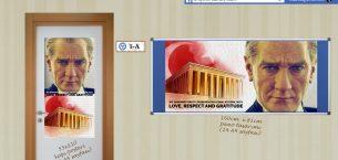 İngilizce Yazılı 10 Kasım Hazır Pano ve Poster Tasarımları