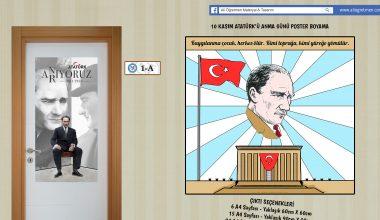 10 Kasım Atatürk'ü Anma Günü Poster Boyama