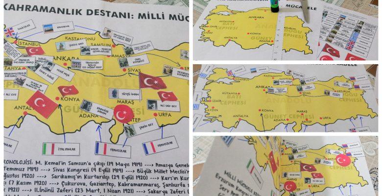 Milli Mücadele Haritası (Küçük Boy)