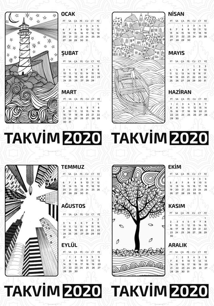Boyamali 2020 Takvimleri Ali Ogretmen Materyal Tasarim