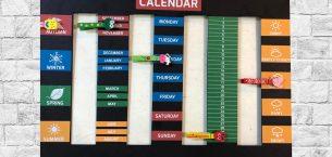 İngilizce Sınıf Takvimi (Classroom Calendar)