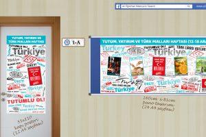 Tutum, Yatırım ve Türk Malları Haftası Hazır Pano ve Poster Tasarımları