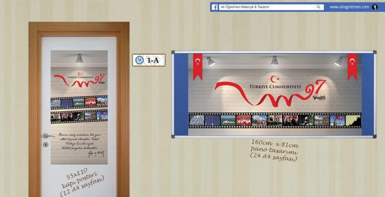 Cumhuriyet Bayramı Pano ve Poster Tasarımları